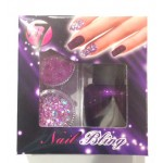 W7 Nail Bling Nail Art Glitter Set - Purple Point
