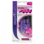 Elegant Touch False Nails Limited Edition Matte False Nails Short Length - Purple