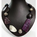 Baked Crystals in Clay Necklace
