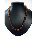 Brown Multi Colour Glass Necklace