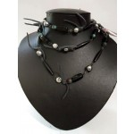 Matte Black Onyx Mala Beads Necklace