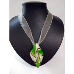 Artglass Leaf  Necklace
