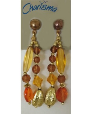 Rice & Beads Multi Colored Glass Earrings