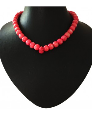 Red Prayers Beaded Necklace