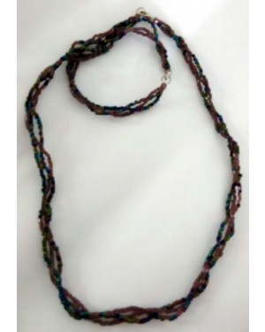 Faceted Rondelle Beads Necklace & Earring Set